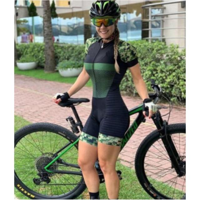 2020 pro equipe triathlon terno das mulheres ciclismo camisa skinsuit macacão maillot ciclismo ropa ciclismo conjunto de manga curta gel almofada roupas com frete gratis conjunto feminino ciclismo ciclismo feminino 1