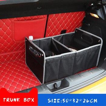 Bagażnika samochodu rozmieszczenie Tidying akcesoria Box dla Peugeot 307 206 Volvo XC90 S60 Land Rover Defender Kia Ceed Ford Focus 2 Jaguar