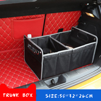 Car Trunk Stowing Tidying Accessories Box For Peugeot 307 206 Volvo XC90 S60 Land Rover Defender Kia Ceed Ford Focus 2 Jaguar