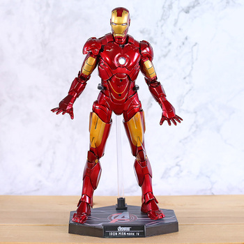 Marvel Figure Action Civil War Avengers Infinity War Mark IV MK 4 Collectible Model Toy With LED Light