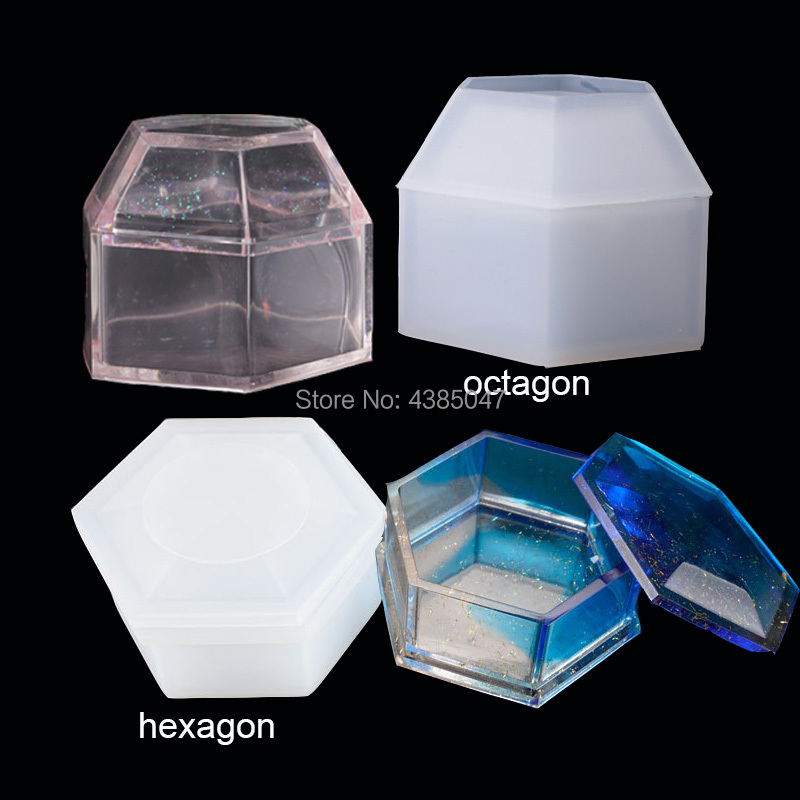 Hexagon Or Octagon Shaped Cut Jewelry Gift Box Storage Box Mold UV Resin Jewelry Molds Jewelry Tools Jewelry Accessories