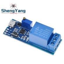 1 pièces ShengYang 5V-30V relais de retard Module de minuterie déclencheur interrupteur de retard Micro USB Module de relais réglable de puissance