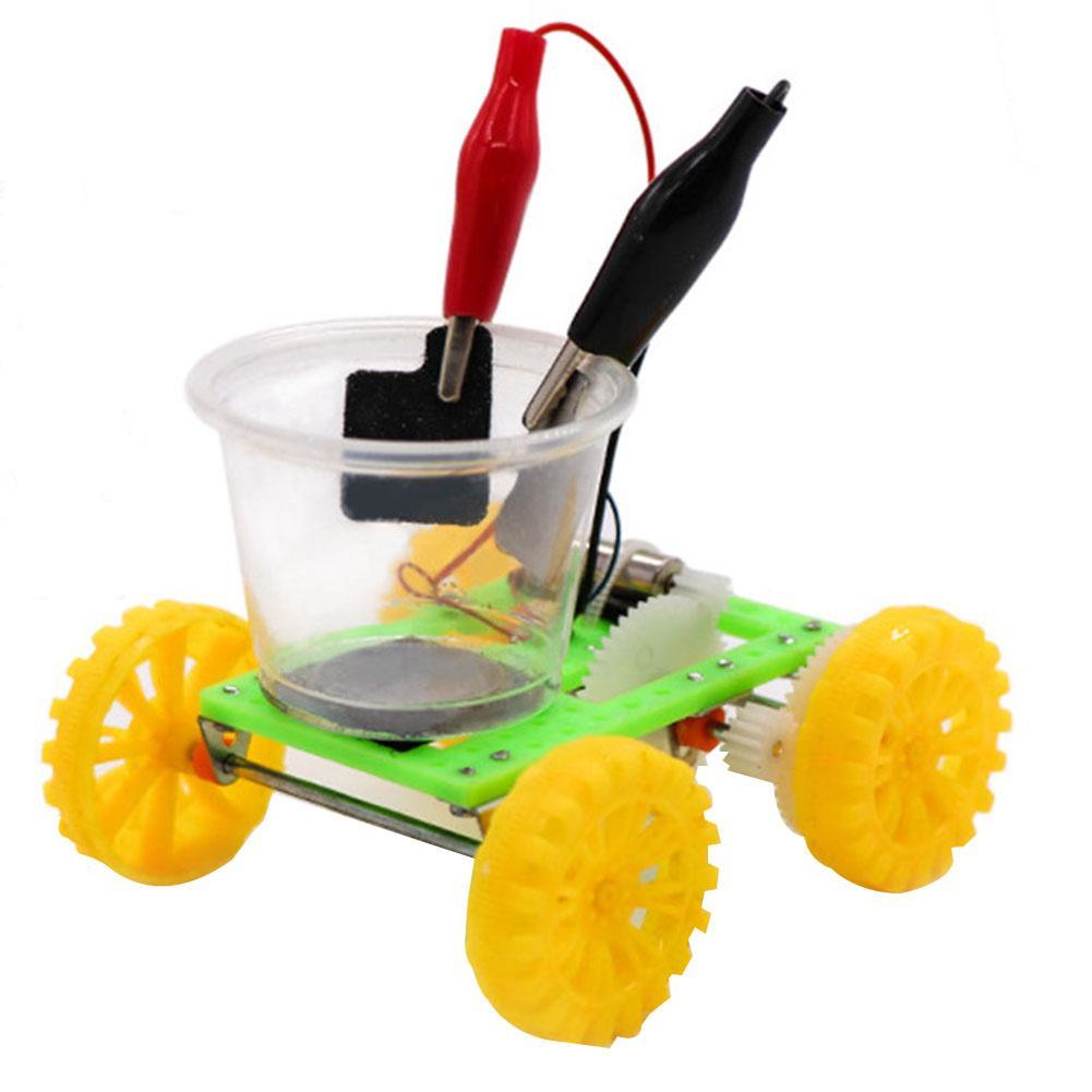Детская модель электромобиля «сделай сам» в соленой воде, учебный набор для научных экспериментов, в качестве источника энергии использует...
