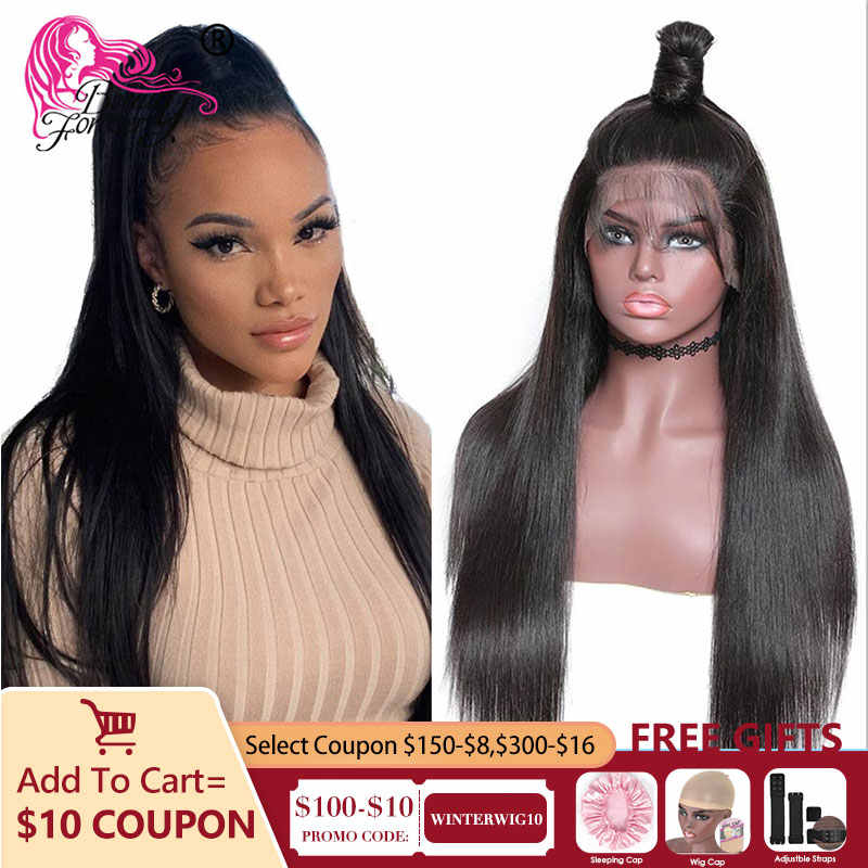 BeautyForever Transparent Lace Wigs 13*4/6 Straight Lace Front Wigs Brazilian Remy Hair Human Hair Wig 150% 180% Density
