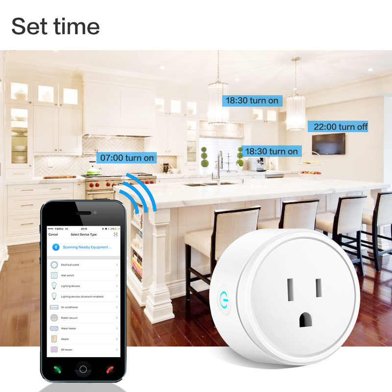 UK/US/EU Smart Home Plug Wireless WIFI Remote Control Socket Voice Control  Smart Power Socket Support Alexa Google Home