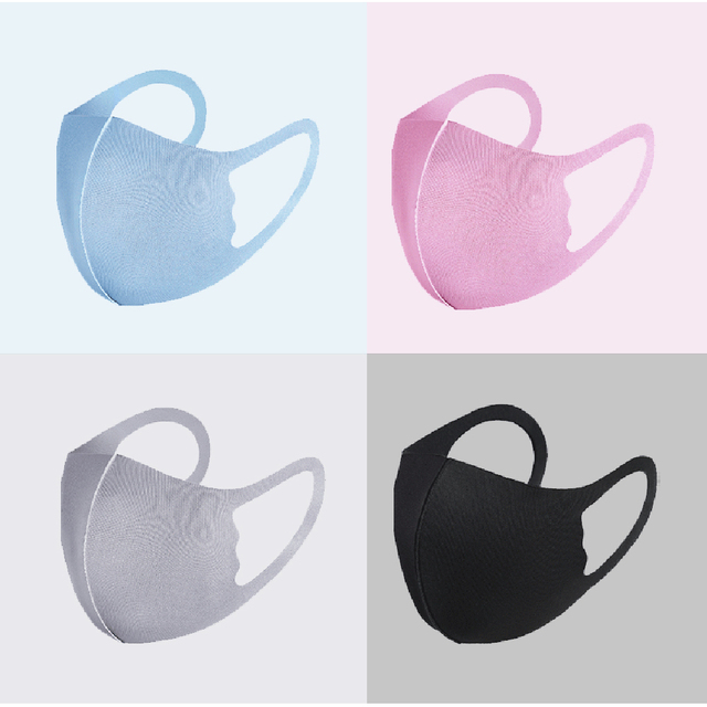 New Kids Children Ice Cotton Mouth Face Mask Respirator Breathable Washable Reusable Dustproof Face Cover Masks For Boys Girls 3