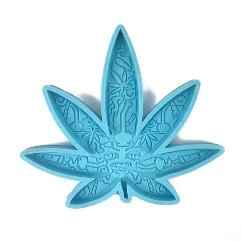 Форма «сделай сам» в форме листьев марихуаны, круглая силиконовая смола, форма для подставки из эпоксидной смолы, силиконовые литые формы, и...
