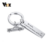Vnox Personalize Custom Engrave Key Chain for Men Jewelry with Drive Safe Care Remind Stainless Steel мужские брелок