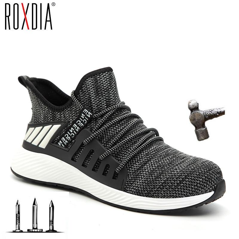 ROXDIA Men Boots Shoe Work-Sneakers Steel Breathable Plus-Size Women Outdoor Ultra-Light