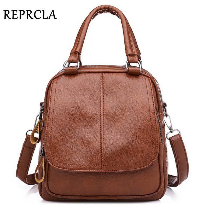 New Multi-Function Women Backpack PU Leather Female Shoulder Bag Fashion Designer Ladie Crossbody Bags