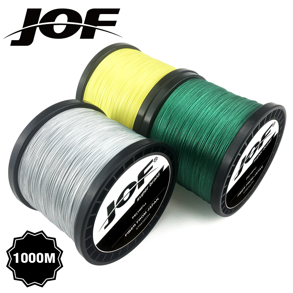 4 Strands 8 Strands 1000M 500M 300M JOF PE Multicolor Braided Fishing Line Superior Extreme Strong 100% SuperPower