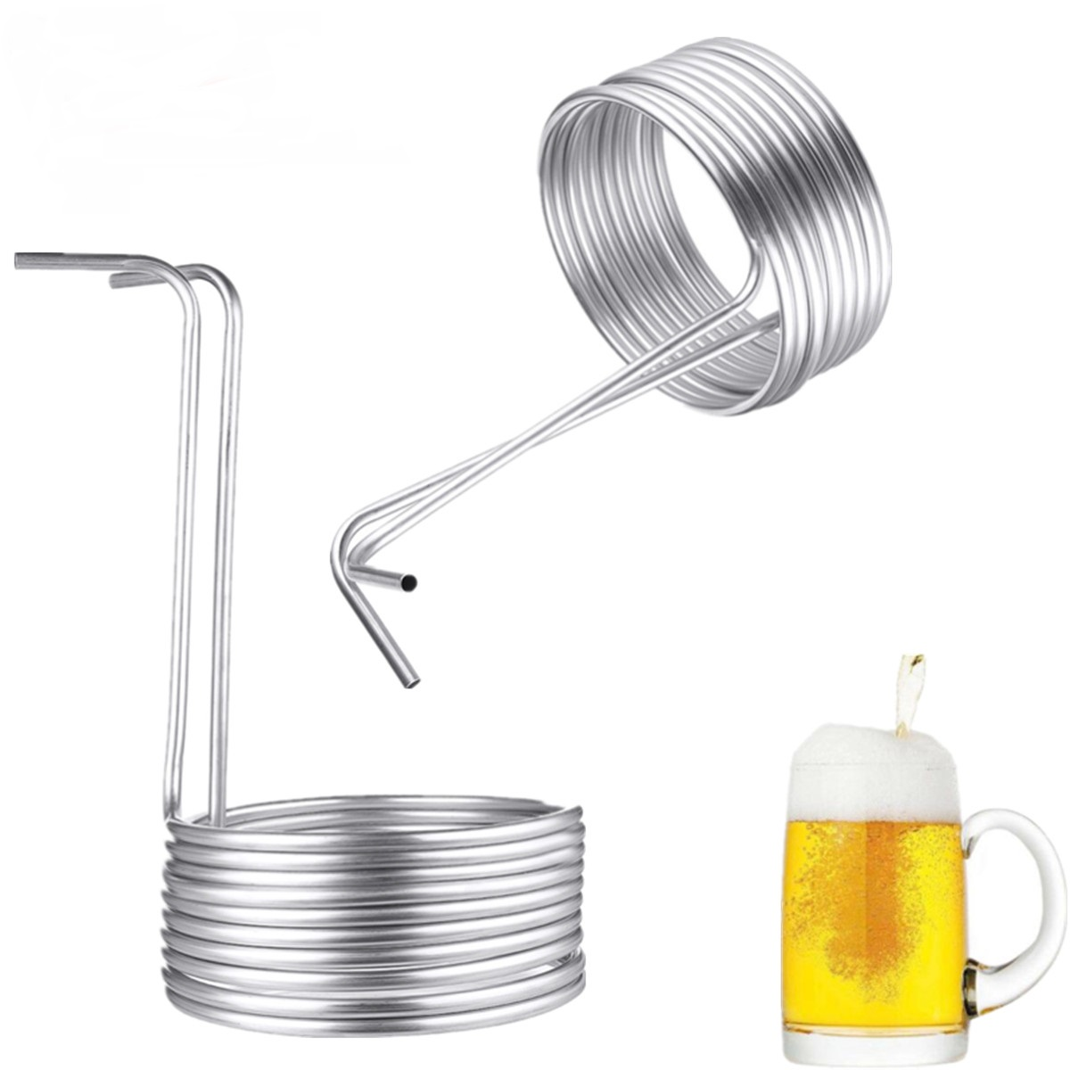 5 Sizes Stainless Steel Immersion Wort Chiller Tube For Home Brewing Super Efficient Wort Chiller Home Wine Making Machine Part