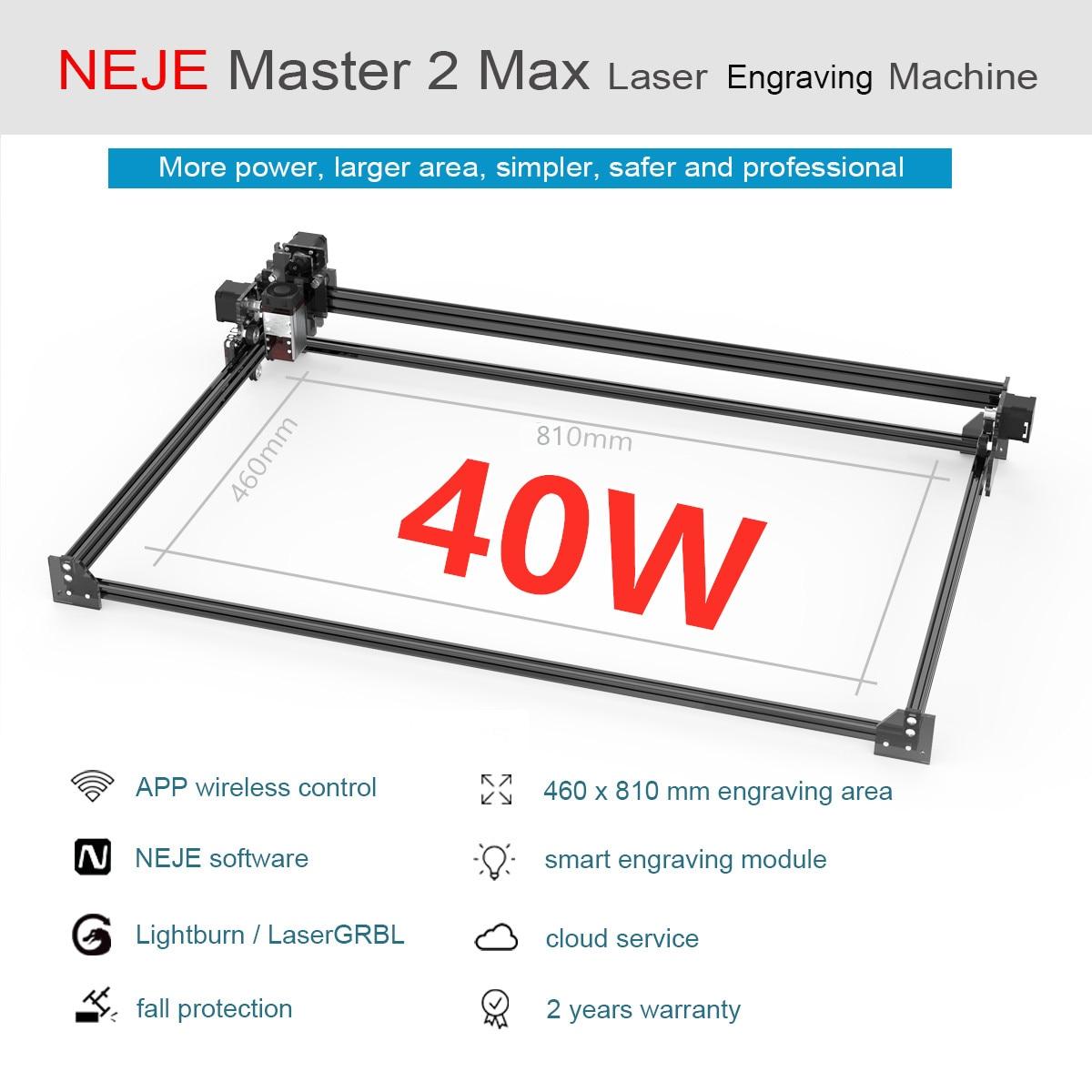 2020 NEJE Master 2 Max 40W 460 x 810mm Professional Laser Engraving Machine, Laser Cutter - Lightburn - Bluetooth - App Control
