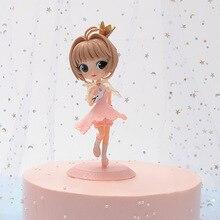 美容ミニ装飾人形玩具アニメ金型さくら女の子のおもちゃクリスマス誕生日プレゼントの人形ケーキ装飾アクションフィギュア