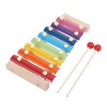 1 шт. ручной стук деревянный ксилофон шикарный умный милый Развивающие игрушки для детей Рождественский подарок