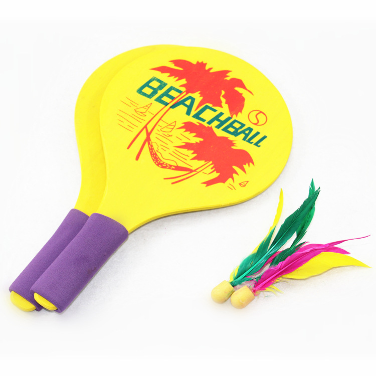 Plate Feather Two Pieces San Mao Two Pieces Thick Feather Two Pieces Board Shuttlecocks Racket-Send San Mao Qiu 10 PCs