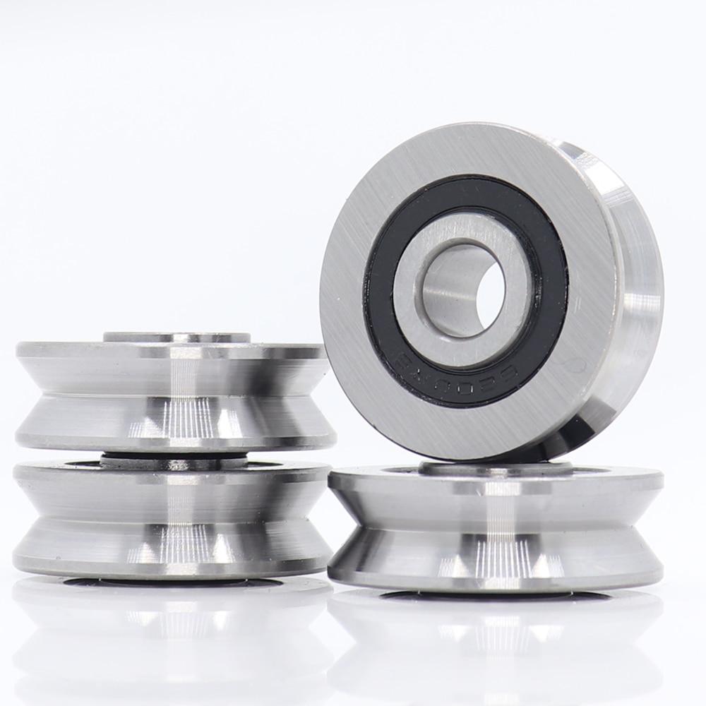 V10371214 V Groove Sealed Ball Bearing (4PCS) 10*37*12*14 mm Pulley Wheel Bearings V6/3 V7/3 V8/3 Gu