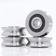 V10371214 V Groove Sealed Ball Bearing  (4PCS) 10*37*12*14 mm Pulley Wheel Bearings V6/3 V7/3 V8/3 Guide Track Rlooer Bearing