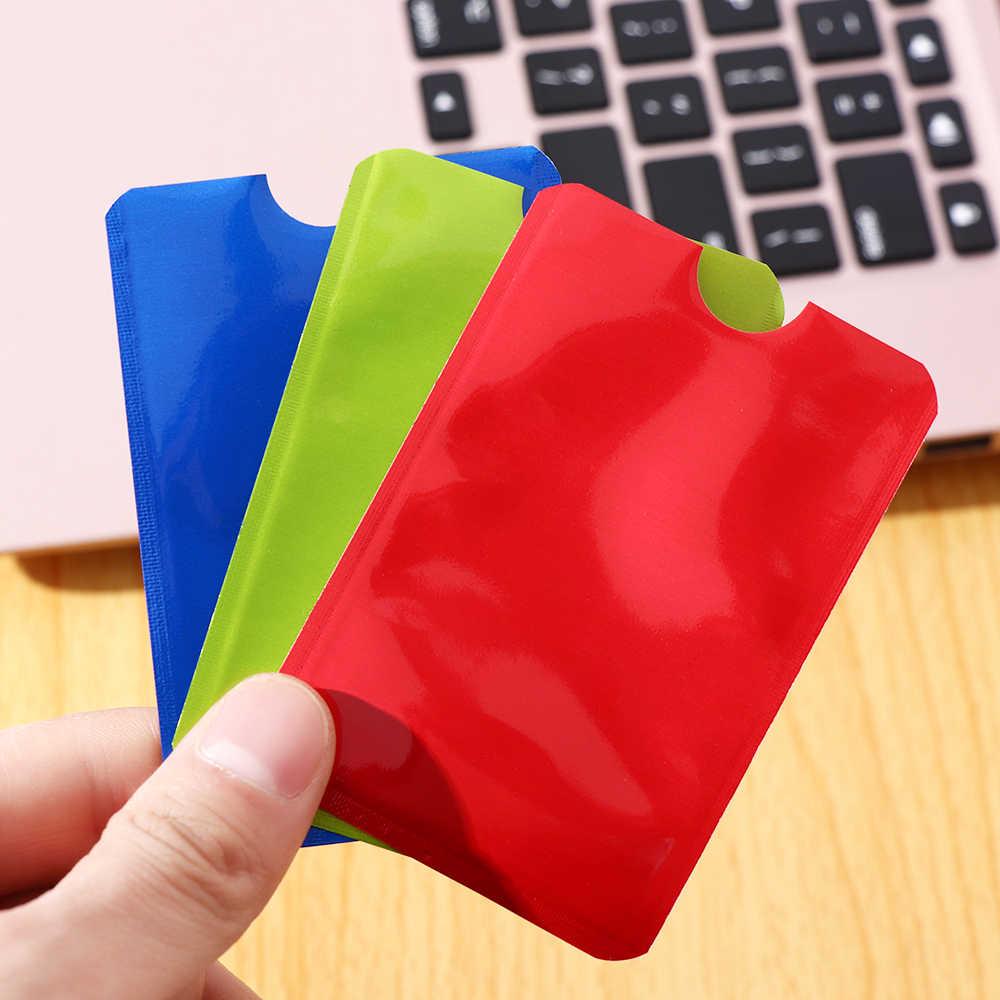 5/10Pcs Aluminium RFID Blocking Karte Halter Anti Theft Hülse Geldbörse Sicherheit Kreditkarten Schützen Fall Abdeckung Bank karte Halter