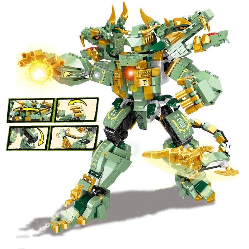 Ninja Dragon Knight Mech Battle Warrior Robot Model Building Blocks KAI JAY Figures Bricks Toys for Children Boy Christmas Gift