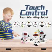 6 Color R8/R9 Robot Gesture Mini Smart Voiced Intelligent LED Eyes RC DIY Robots Blue Green Orange Toys For Children Kids Gifts(China)