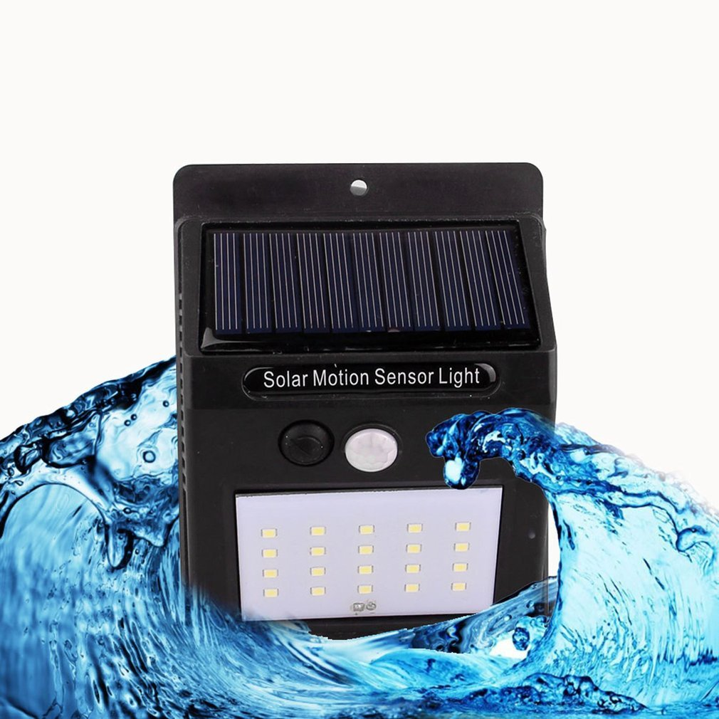 20LED Waterproof ABS Solar Powered Motion Sensor Lamp Outdoor Garden Fence Landscape Lamp Stair Yard Light Wall Lamp NEW Arrival