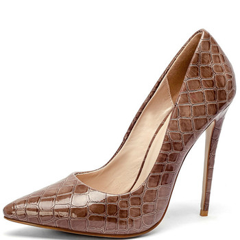 YECHNE Women Pumps High heels Shoes Snakeskin Party Woman Shoes Plus Size 33 43 Pointy Nose Mode Sexy Pumps Stiletto
