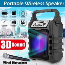 Portable Bluetooth Speaker Wireless Loudspeaker Sound System 5W Stereo With Microphone FM Outdoor Party 1200mAh