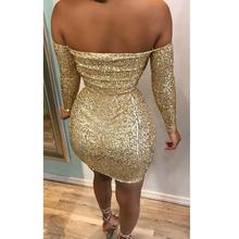 Women Long Sleeve Crop Top Bodycon Skirt Two Piece Set Zip Sexy Club Wear Gold Sequined Mini Suit Party Outfits adogirl reflective gilding two piece set dress 3 4 puff sleeve one shoulder crop top bodycon mini skirt women sexy club outfits