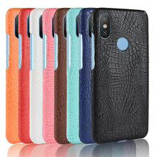 For Xiaomi Mi A2 Case Luxury PU Leather Hard Plastic Back Cover Phone Case For Xiaomi Mi A2 A 2 MiA2 Mi 6X Global Version(China)