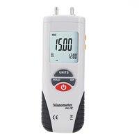 Lcd mini digital manômetro diferencial medidor de pressão ar 2psi data hold 11 unidades|Medidores de pressão| |  -