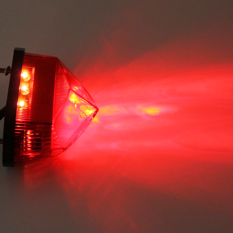 MALUOKASA Motorcycle Tail Rear Light Red LED Rear Lamp Taillight Motorbike Brake Stop Lights Moto Turn Signals For Honda Yamaha