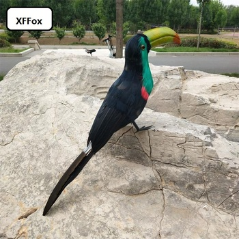 new simulation black&green Toucan model polyethylene&furs creative Toucan bird gift about 45cm xf2451