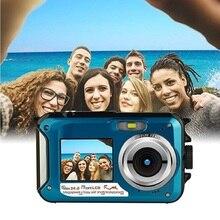 Underwater Digital Camera 2.7inch TFT Waterproof 24MP MAX 1080P Double Screen 16x Digital Zoom