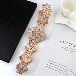 Image 4 - Sunspicems Luxus Marokkanischen Kaftan Gürtel für Frauen Volle Strass Taille Kette Metall Einstellbare Länge DUBAI Hochzeit Schmuck 2020