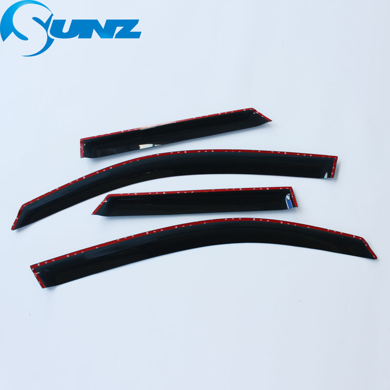 Image 5 - Black Side window deflectors For Ford Territory 2011 Window Visor Vent Shade Sun Rain Deflector Guard Car Styling SUNZ-in Awnings & Shelters from Automobiles & Motorcycles