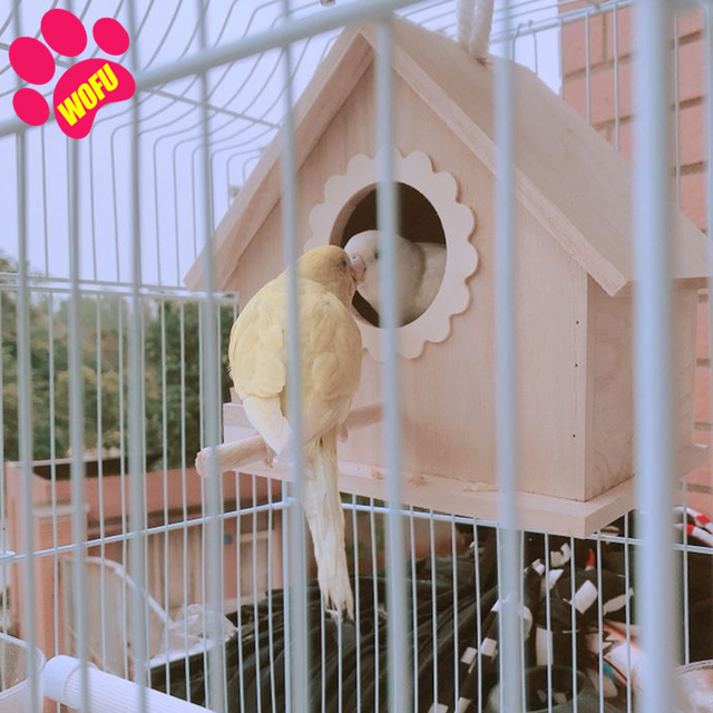 """""""We Love Our Pets"""" Wooden Outdoor Bird Cottage   3"""