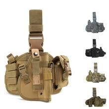 Тактический Пистолет для правой руки, кобура для ног, нейлоновая универсальная сумка для пистолета, военный охотничий страйкбол, чехол для пистолета