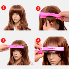 New Women 1pc Professional Haircut Ruler Hair Clipper Scissors Bangs DIY Trim Hairpins and clips