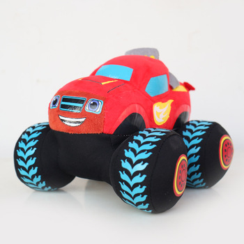 Blaze i mega maszyny potwór Blaze suv-y pluszowe samochody zabawki tanie i dobre opinie FAIRY Koreański Tekstylia i tkaniny Doll lint PP cotton