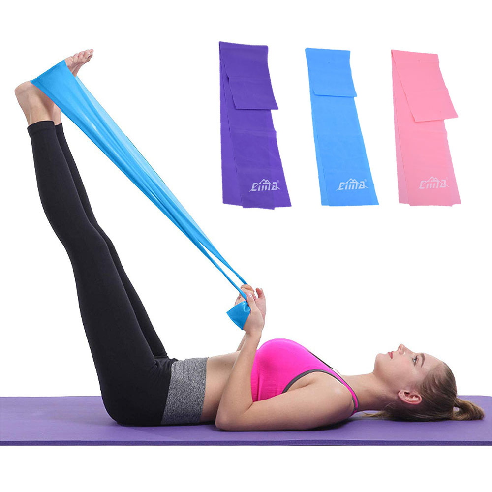 Resistance Bands Women Workout Exercise Stretching Elastic Dance Loop  Folded Fitness Yoga Gear Gym Outdoor Training Equipment Resistance Bands  -  AliExpress
