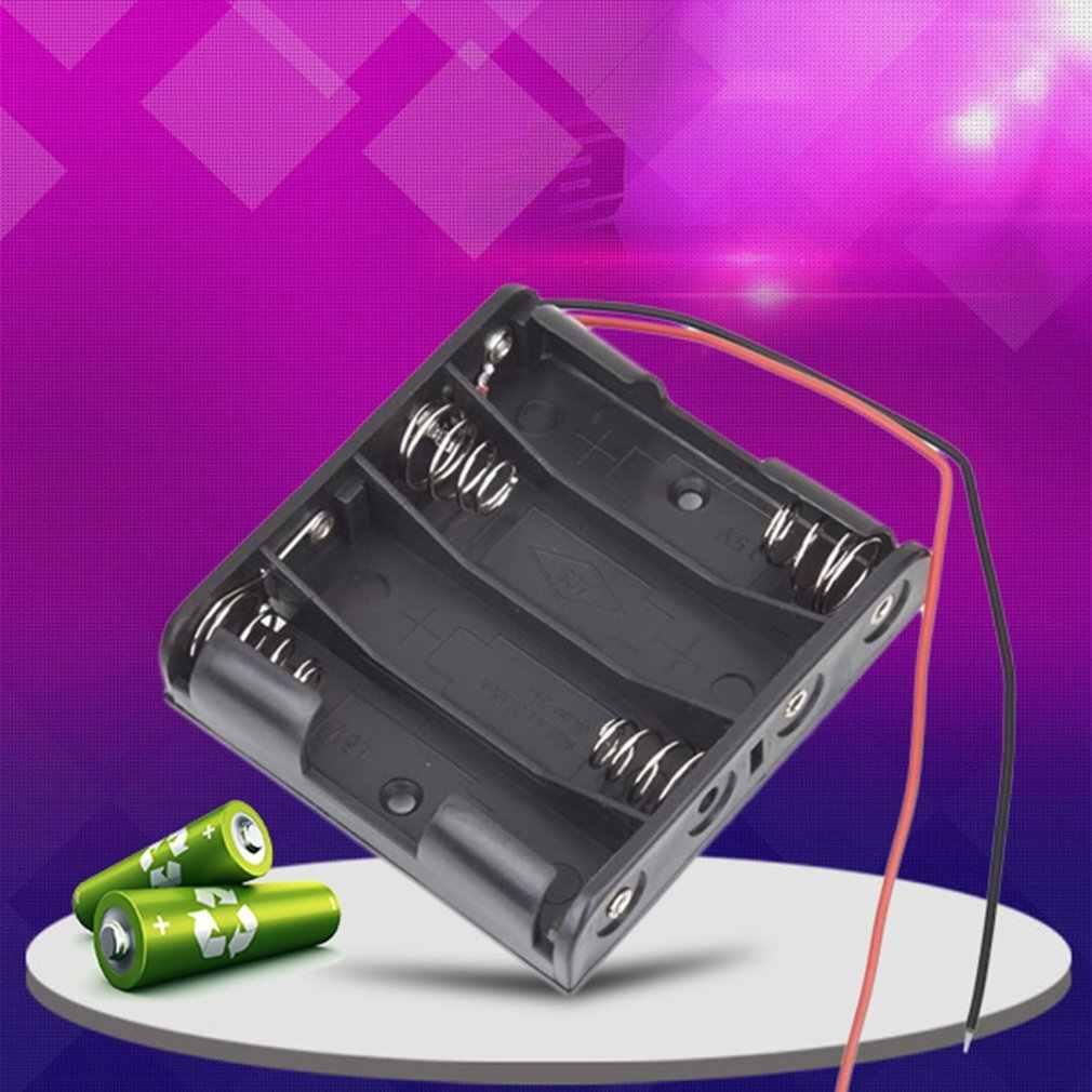 เครื่องโกนหนวด Accessor Professional พลาสติกสีดำแบตเตอรี่ผู้ถือกล่องสำหรับ 4 แพ็คมาตรฐาน AA 2A แบตเตอรี่ STACK สีดำ