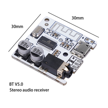 Bluetooth 5.0 JL6925A Stereo Music 3.5mm DIY Car Bluetooth Audio Receiver WAV+APE+FLAC+MP3 Lossless Decoding Stereo Output TSLM1 image