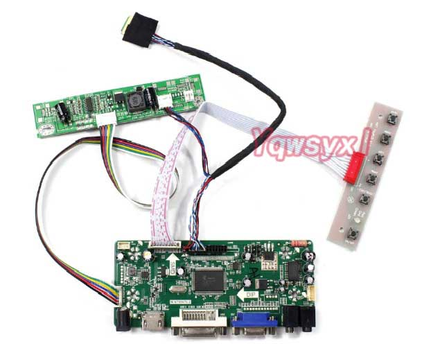Yqwsyxl Kit  For LM215WF4(TL)(G1) 1920X1080 LM215WF4 TLG1 LCD Display Panel HDMI+DVI+VGA LCD LED Screen Controller Driver Board