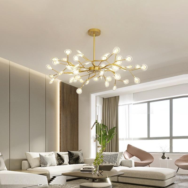 Candelabro de iluminación LED con estilo rama de árbol candelabro de techo decorativo candelabro de iluminación colgante lámpara de araña moderna - 3