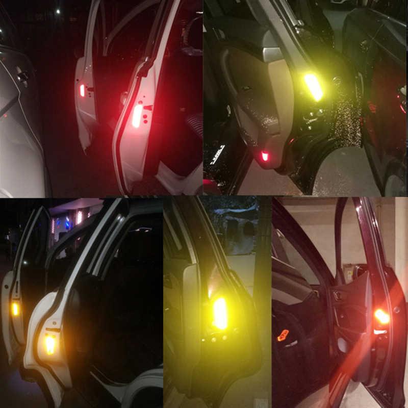 4 قطعة سيارة تحذير عاكس فتح ملصق لسكودا اوكتافيا 2 A7 A5 A4 Vrs فابيا 2 1 السريع اليتي رائع 3 فيليشيا سيتيجو RS