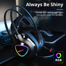 Original Tronsmart Glary Alpha Gaming Kopfhörer ps4 Headsets Gamer, 3,5mm + USB Port für ps4, hexe, computer, Laptop