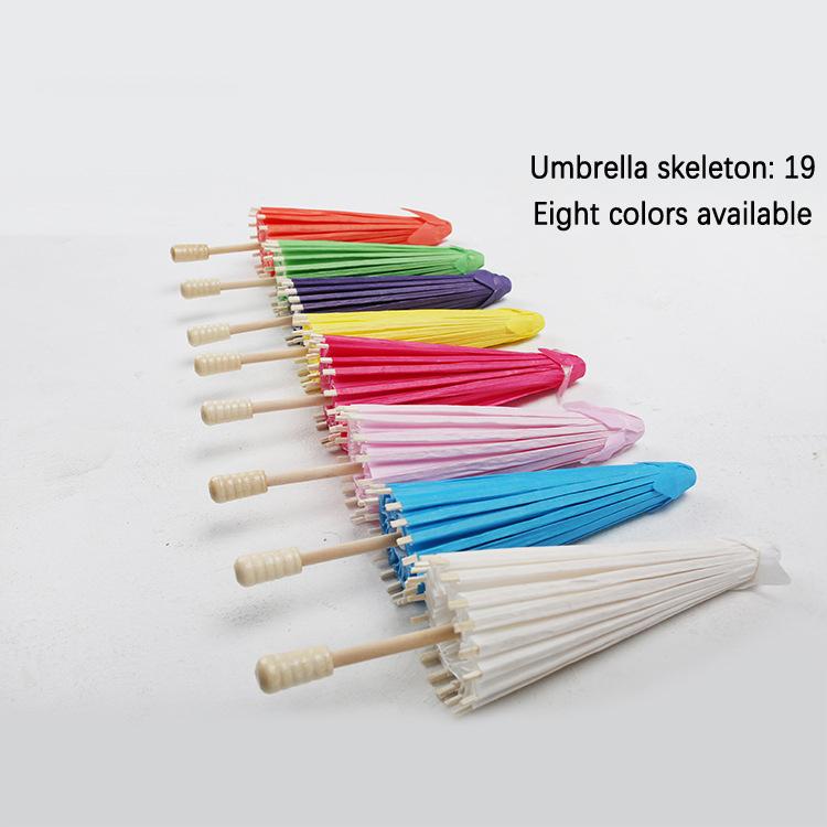 Paper Umbrella Kids Umbrella Oilpaper Craft Umbrella Painted Doodle Umbrella Small Colored Paper Umbrella Decoration Umbrella