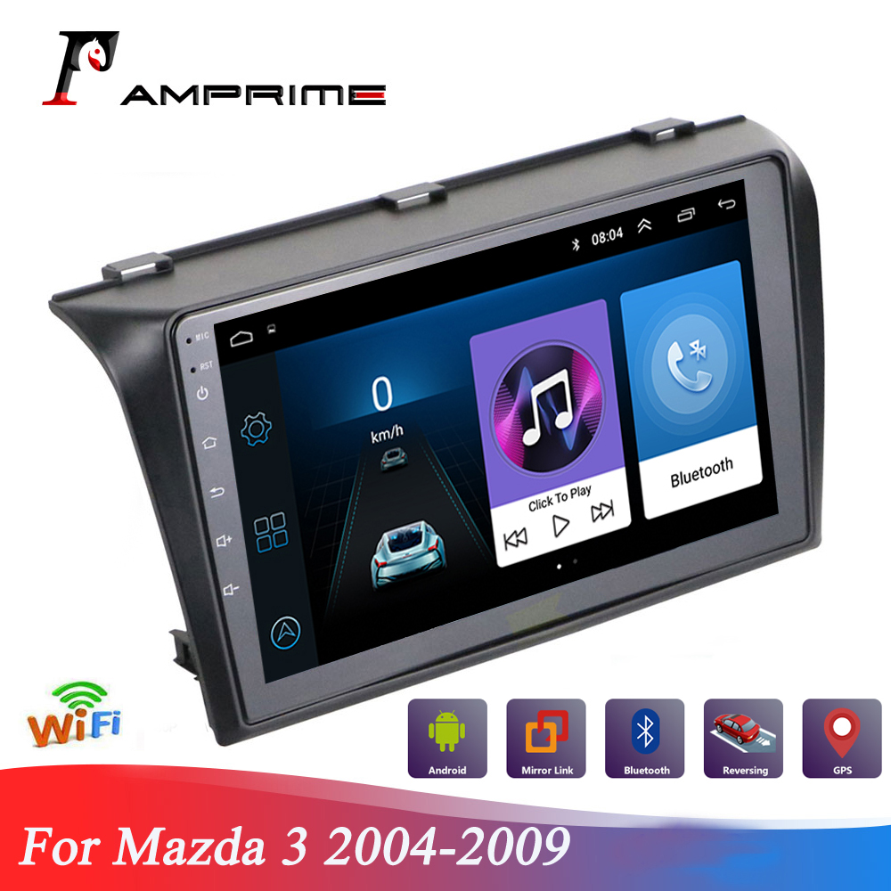 AMPrime Car Multimedia player For <font><b>Mazda</b></font> <font><b>3</b></font> 2004-<font><b>2009</b></font> Android Car GPS <font><b>Radio</b></font> Stereo 1G 32G WIFI Free MAP Quad Core Car Touch Screen image