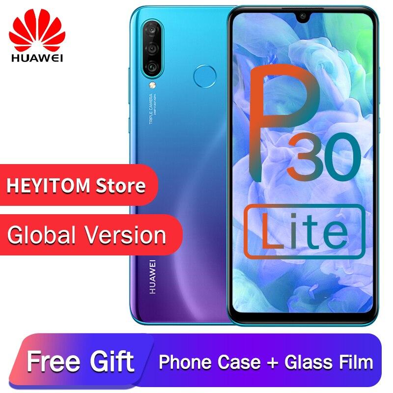 Version globale en option d'origine Huawei P30 Lite Nova 4e Smartphone Octa Core Android 9.0 identification d'empreintes digitales 3340mAh 4 caméras téléphone